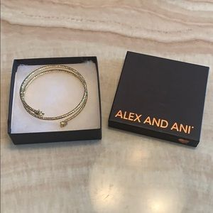Alex and Ani Star & Moon Gold  Bangle Bracelet
